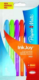 Paper Mate Inkjoy 100 Capped Ballpoint Pens - Fun Assorted (Pack of 5)