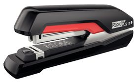 Rapid Omnipress Supreme F17 Full Strip Stapler - Black/Red