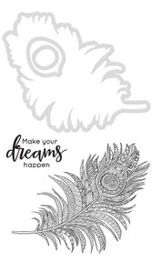 Kaisercraft Cutting Dies & Stamps - Feather