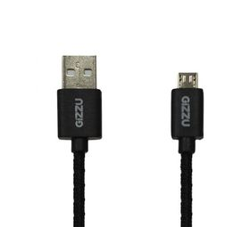 Gizzu Micro USB Braided Cable 2m - Black