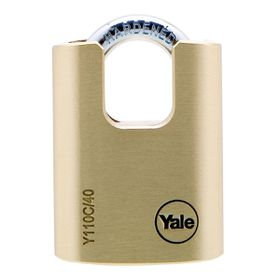 Yale - 40mm Brass Closed Shackle Padlock