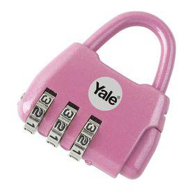 Yale - Children's Combination Padlock Fashion Dreams - Pink