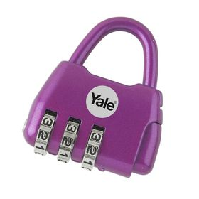 Yale - Children's Combination Padlock Fashion Dreams - Purple
