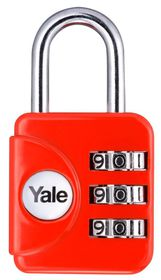 Yale - Combination Padlock - Red