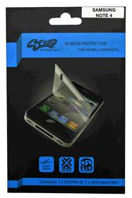Scoop Screen Protector for Samsung Galaxy Note 4 Twin Pack