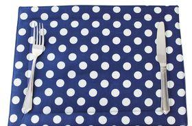 Balducci - Set Of 6 Shweshwe Placemats - Navy Polka Dot