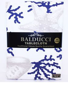 Balducci - 12 Seater Rectangle Coral Shell Tablecloth