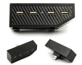 4 Ports Expansion USB Hub Adapter Splitter For Xbox One - Black