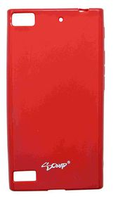 Scoop Progel Blackberry Z3 Case with Screen Protector - Red