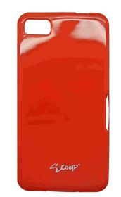 Scoop Progel Blackberry Z10 Case with Screen Protector - Red