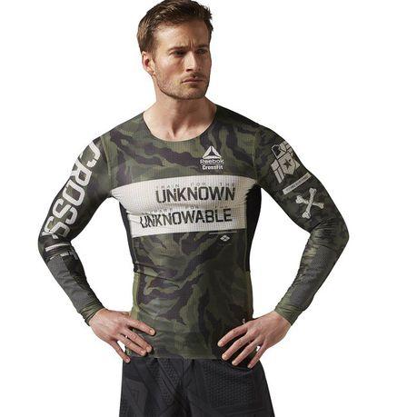 neue Kollektion unglaubliche Preise Discounter Men's Reebok Crossfit LS Kevlar Compression T-Shirt