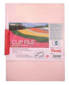 Pentel Clip File - Pink