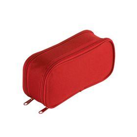 Eco Dual Zip 20cm Pencil Bag - Red