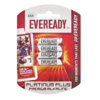 Eveready Platinum Plus AAA Batteries (Pack of 4)
