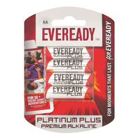 Eveready Platinum Plus AA Batteries (Pack of 4)