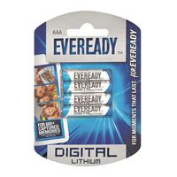 Eveready Lithium AAA Batteries (Pack of 4)