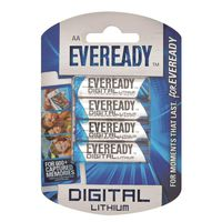 Eveready Lithium AA Batteries (Pack of 4)