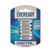 Eveready Lithium AAA Batteries (Pack of 6)