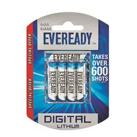 Eveready Lithium AAx4+AAAx4 Batteries (Pack of 8)