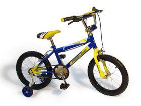 """Peerless Kids 16"""" Bike with Training Wheels - Blue & Yellow"""