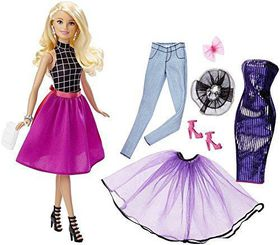Barbie Fashion Mix N Match Doll (Pink, Purple and Black)