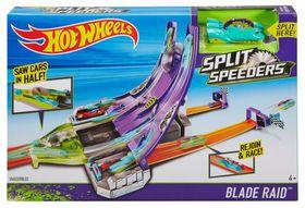 Hot Wheels Split Speeders Blade Raid Track Set