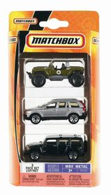 Matchbox Ready For Action Mbx Metal 3 Car Pack