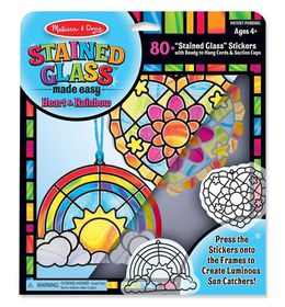 Melissa and Doug Stained Glass - Rainbow and Hearts Ornaments