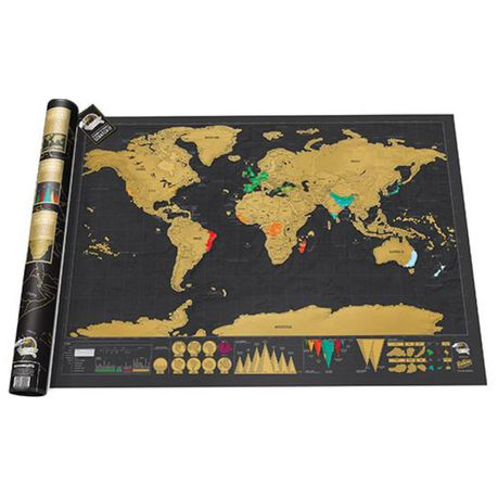 scratch map south africa Scratch Map Deluxe Buy Online In South Africa Takealot Com scratch map south africa