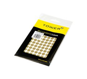 Tower C10 Colour Code Labels (Sheets) - Gold