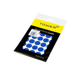 Tower C19 Colour Code Labels (Sheets) - Blue