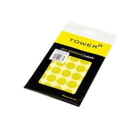 Tower C19 Colour Code Labels (Sheets) - Yellow