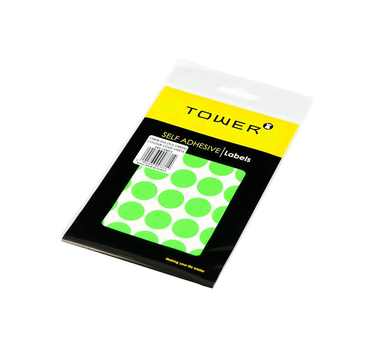 Tower C19 Colour Code Labels (sheets) - Fluorescent Green   Buy ...