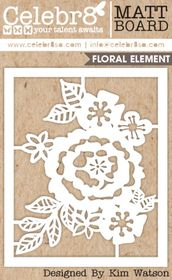 Celebr8 Let's Chat Board Midi - Floral Element