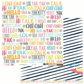 Celebr8 Let's Chat Double Sided Paper - Chit Chat (10 Sheets)