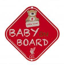 Liverpool FC Metal Baby on Board Sign - Red & White