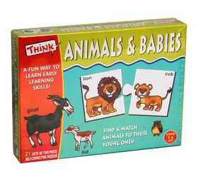 Think Kids Educational Learning Games - Animals & Babies Edition