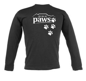 Jou Ma Se Paws Unisex Long Sleeve T Shirt - Black
