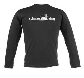 Schnauzing Unisex Long Sleeve T Shirt - Black