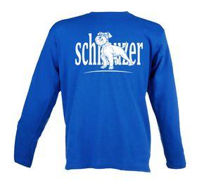 Schnauzer Unisex Long Sleeve T Shirt - Royal Blue
