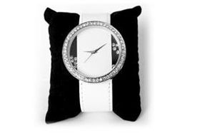 Skyla Jewels Large Face Diamante Watch - White