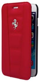 Ferrari 458 for iPhone6 Leather Book - Red/Silver