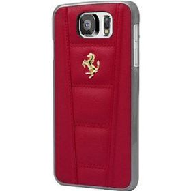 Ferrari 458 for Samsung S6 Hard Case Leather - Red