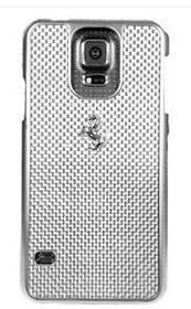 Ferrari Gt for Samsung Galaxy S5 Carbon Case Metal Logo - White