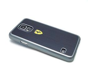 Ferrari for Samsung Galaxy S5 Metal Painting Hard Case - Black