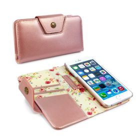 Tuff-Luv Alston Craig Ladies Magnetic Case for the the Apple iPhone 6/6S Plus - Rose Gold Floral