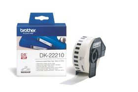 Brother DK-22210 Continuous Length Paper Tape (29mm x 30.48m) - Black on White