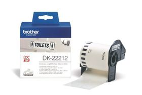 Brother DK-22112 Continuous Length Film Tape (62mm x 15.24m) - Black on White