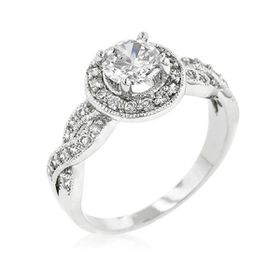 Miss Jewels 1.45Ct Cubic Zirconia Engagement Style Ring