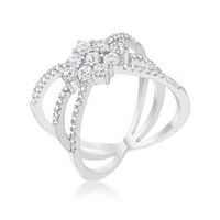 Miss Jewels 0.80Ct Delicate Geometric Wrap Costume Ring